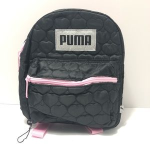 New PUMA Girl's Backpack Black and Pink
